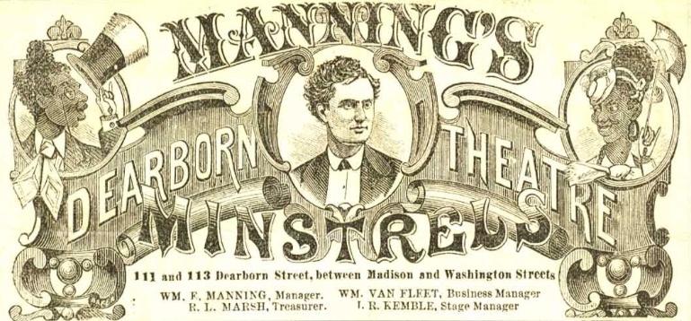 Detail, Manning's Minstrels, 1870