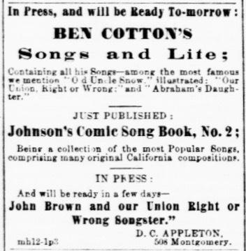 Appleton advertisement 1863