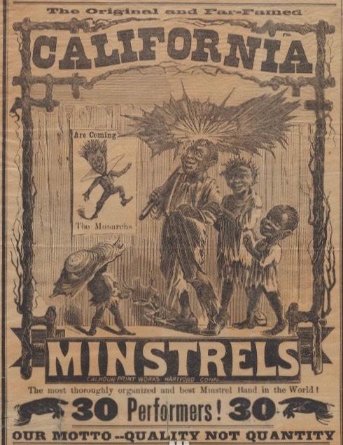 Detail, Programme Original California Minstrels