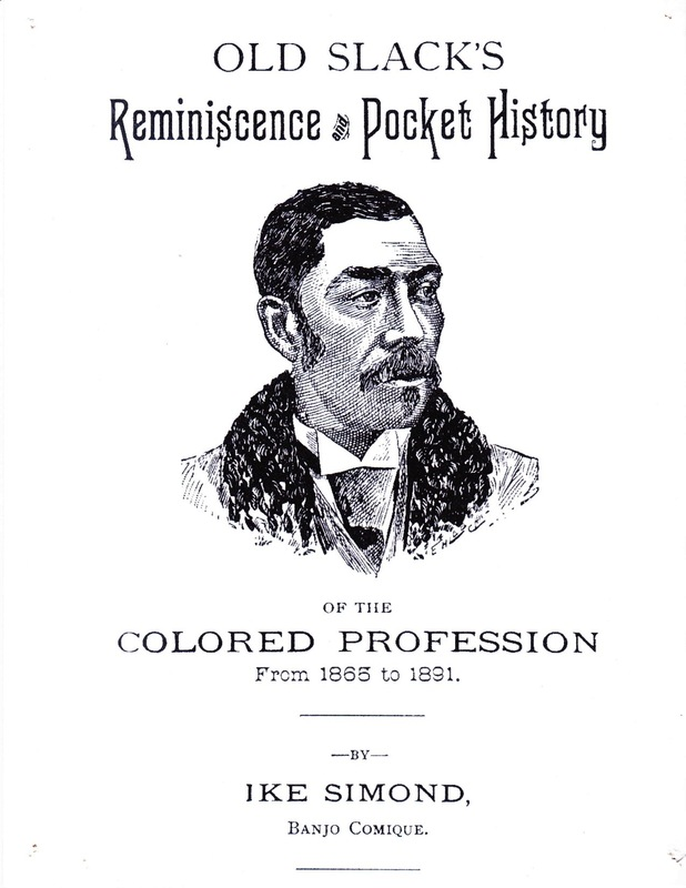 Cover, Old Slack's Reminiscence and Pocket History of the Colored Profession 1865-1898