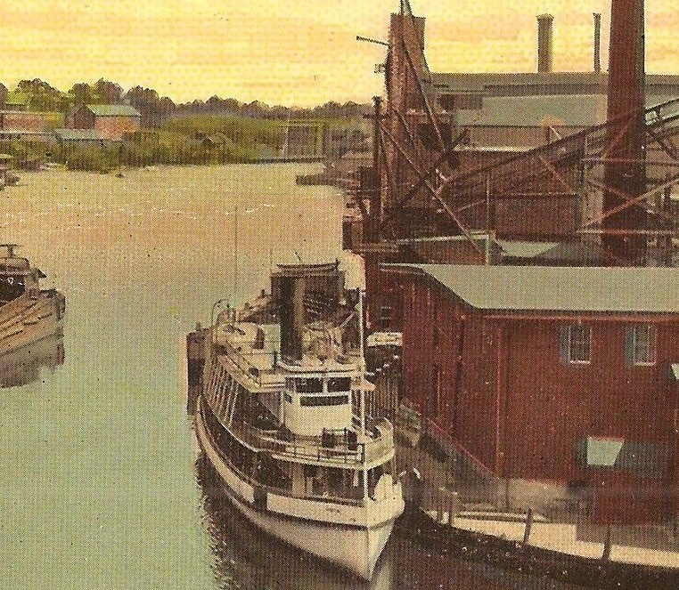 Detail, Steamer Pioneer on the Pawtucket River