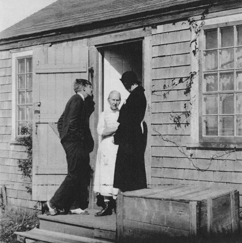 Sarah Jane (Cotton) Dunham at her door