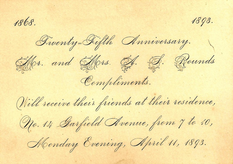 Rounds Anniversary Invitation