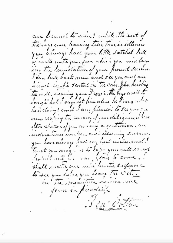 Cotton Correspondence with Francis Wilson, page 2